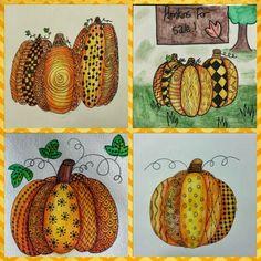 Zentangled fall   Angela Anderson Art Blog: Pumpkin Zentangle - Kids Art Class