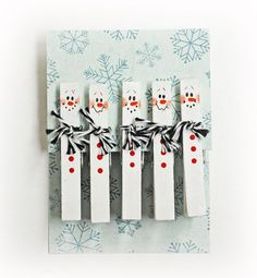 Snowmanclothespins