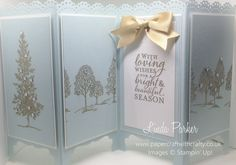 Linda Parker UK Independent Stampin' Up! Demonstrator from Hampshire @ Papercraft With Crafty : Lovely as a Tree Screen Divider Card Stampin Up Christmas, Handmade Christmas, Christmas Crafts, Christmas Items, Christmas 2016, Christmas Ornament, Fancy Fold Cards, Folded Cards, Screen Cards