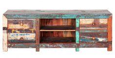 Schrootmeubelen en sloophout meubels maken, doe het zelf voorbeelden voor meubels met een recycling thema. Televisiekast van teak sloophout om zelf te maken
