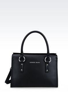Armani Jeans Large Eco Saffiano Tote Shoulder Bag | Armani