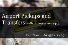 Silverservice24x7 Taxi Melbourne provides #Best #Airport #Pickups and #transfer #services. Pre-booking a taxi by calling #Melbourne will benefit you in terms of convenience, flexibility, and your own peace of mind. Call us for Booking 0452 622 391 or online at Book@silverserviice24x7.com