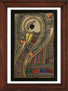 Wall Art Painting Doodle 21 New Ideas Madhubani Paintings Peacock, Kalamkari Painting, Madhubani Art, Indian Art Paintings, Gond Painting, Mural Painting, Mural Art, Acrylic Paintings, Fabric Painting