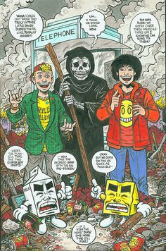 Bill and Ted and Milk and Cheese in Color by The Devil Puppet, via Flickr
