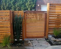 Contemporary Horizontal Cedar Privacy Fence Design, Pictures, Remodel, Decor and Ideas