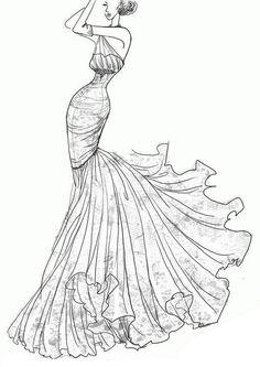 love this wedding dress sketch