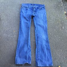 Rock and Republic jeans In good condition with some wear at the bottom hems. Boot cut size 28 Rock & Republic Jeans Boot Cut
