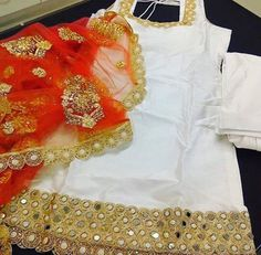email sajsacouture@gmail.com for this exquisite red and white piece! Pakistani Outfits, Indian Outfits, White Punjabi Suits, Patiala Suit, Salwar Kameez, Kurti, Desi Clothes, Indian Clothes, Salwar Suits Party Wear