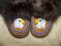 Boys beaded moccasins/slippers, Alaska Native beadwork made my Liisia Carlo Edwardsen