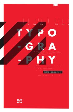Futur Typographic Posters on Behance