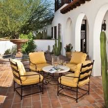 Similar seating needs to go near the fenced play structure/house and the fountain outside the den. A Spanish Colonial Home Embraces the Outdoors - Phoenix Home & Garden