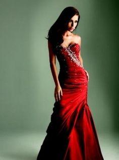 Abiti da sposa rossi sirena