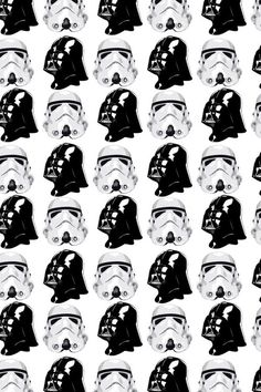 pattern, black, white, star wars,