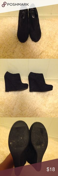 Super high platform wedge booties Worm 2 times max. Great to go out in! Forever 21 Shoes Ankle Boots & Booties