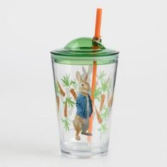 Kids Drinking Cup Tumbler With Lid and Straw Beatrix Potter Peter Rabbit Acrylic Break Resistant Glassware Peter Rabbit Movie, Peter Rabbit Party, Best Baby Bottles, Kids Tumbler, Kid Drinks, Cup With Straw, Beatrix Potter, Cupping Set, Baby Feeding
