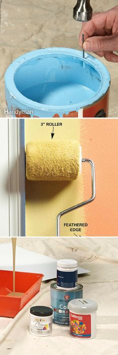Painting Tips: Use these painting tips to do a faster and neater job. http://www.familyhandyman.com/painting/tips