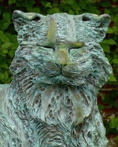Sculpture by Teresa Martin. Forest Cat