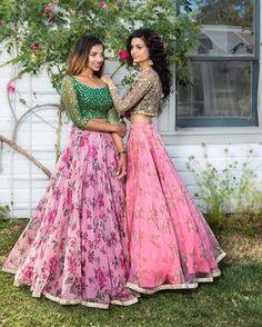 Image may contain: 2 people Long Gown Dress, Lehnga Dress, Dress Up, Long Frock, Half Saree Designs, Lehenga Designs, Blouse Designs, Dress Designs, Indian Wedding Outfits