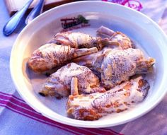 Pollo de Bresse con nata al estilo