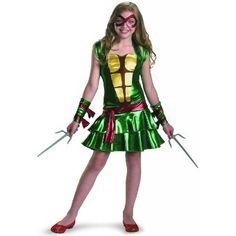 Amazon.com: Teenage Mutant Ninja Turtles Raphael Tween Costume: Clothing
