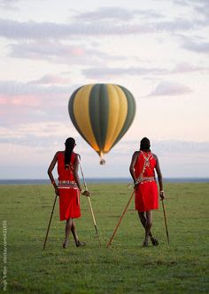 ^Maasai tribesmen - Maasai Mara, Kenya