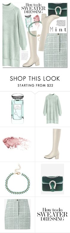 """Mint High-Low Sweater"" by ansev ❤ liked on Polyvore featuring By Terry and Natasha Zinko"