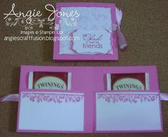 Angie's Craft Fusion: Tea Bag Holder Card