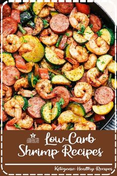 Cajun Shrimp and Sausage Vegetable Skillet is the BEST 20 minute meal packed with awesome cajun flavor with shrimp, sausage, and summer veggies. This makes a great low carb meal and is also great for meal prep! Healthy Eating Recipes, Vegan Recipes, Easy Recipes, Drink Recipes, Dessert Recipes, Trifle Desserts, Mini Desserts, Frosting Recipes, Amazing Recipes