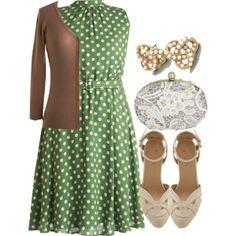 #weddingguest #polkadots #dressup