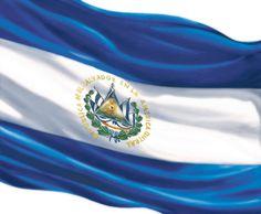 Flag of El Salvador El Salvador Food, San Salvador, Honduras, Spanish Flags, Italy Map, Flags Of The World, Beach Fun, Central America, Country