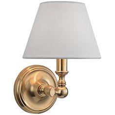 "Hudson Valley Sidney 9 3/4"" High Aged Brass Wall Sconce - #1K513 | www.lampsplus.com"