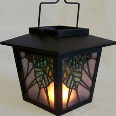 """Solar Powered Stained Glass Lantern - """"Solstice"""" by Smash Glassworks [SOLD] Making Stained Glass, Stained Glass Art, Stained Glass Windows, Glass Lanterns, Light Images, Leaded Glass, Color Pallets, Colorful Decor, Home Lighting"""