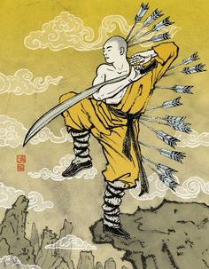 PLAYBOY - Playboy Shaolin monk - February 2007 | art by YUKO SHIMIZU (清水裕子) ... note: NOT the Yuko who created Hello Kitty | website: http://yukoart.com/