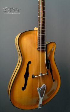 This is an amazing sounding SS Jazz Archtop from renowned Israeli builder Elkayam Boaz. The design is completely original and and employs parallel braces making this one of the most responsive archtops you've ever play Jazz Guitar, Guitar Amp, Cool Guitar, Acoustic Guitar, Archtop Guitar, Bass Guitars, Electric Guitars, Guitar Photos, Cigar Box Guitar