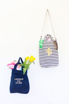DIY Gold Summer Tote
