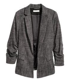 Melange Blazer | Black/white | Ladies | H&M US
