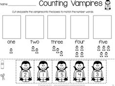 Count the Vampires! Free Halloween fun!