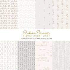 "INSTANT DOWNLOAD ""Indian Summer"" Digital Paper Pack"