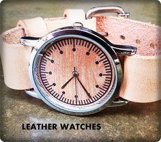 Wrist Watch Watch  Leather watch  Mens watch  by ispoopaa1979