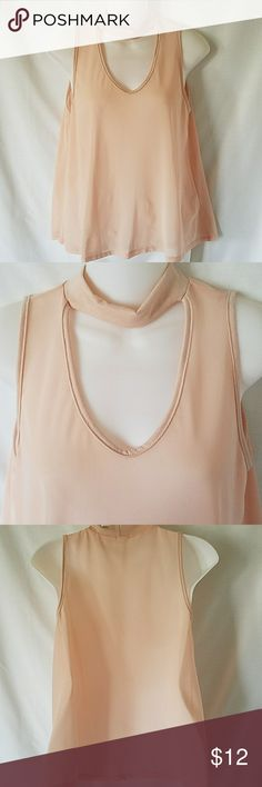 New Caution to the wind choker peach top sz M Flowy, sheer, choker peach top in size medium by Caution to the Wind. New with tags. Caution to the Wind Tops