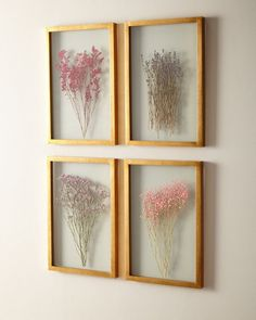 Shop Framed Florals, Set of 4 at Horchow, where you'll find new lower shipping on hundreds of home furnishings and gifts. Pressed Flowers Frame, Pressed Flower Art, Flower Frame, Diy Wall Decor, Diy Home Decor, Bedroom Decor, Shabby Chic Buffet, Deco Studio, Decoration Christmas