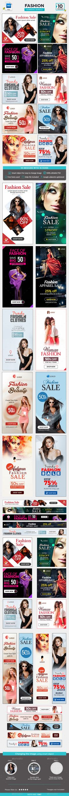 Fashion Sale Banners Bundle - 10 Sets - 160 Banners Templates PSD #ads #promote Download here: http://graphicriver.net/item/fashion-sale-banners-bundle-10-sets-160-banners/16145532?ref=ksioks