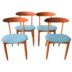 Four Dining Chairs by Kurt Ostervig, Danish Modern | From a unique collection of antique and modern dining room chairs at https://www.1stdibs.com/furniture/seating/dining-room-chairs/