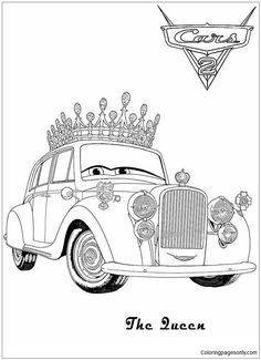 Disney The Queen For Kids Cars 285da Coloring Page Coloringpagesonly