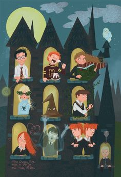 harry potter characters by sheena kristen sy the geek in. Black Bedroom Furniture Sets. Home Design Ideas