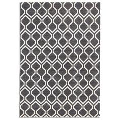 Plantation Rugs Company Hampton Black Rug | Patterned Rugs | Rugs | Living Room | Heal's £150 150x230cm