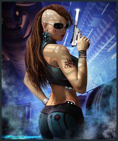Classificação de relevância 1 _____________________________ Palavras-chave: cyberpunk, personagem futuristico, sexy. _____________________________ http://www.deviantart.com/