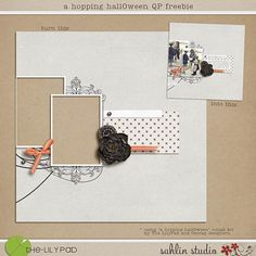 Quality DigiScrap Freebies: Halloween quick page freebie from Sahlin Studio