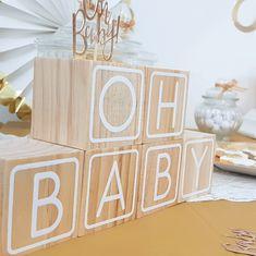 Cubes Oh Baby pour une décoration de chambre de bébé,  baby shower et fête