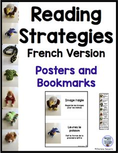 Reading Strategies Posters and Bookmarks French Version   Reading strategies help children to become better readers. What better way to get their attention than to use stuffed animals to share the strategies. This is a set of French posters and bookmarks that is based on my English version. You can find out more here.To get your free copy click on the product image above.  Diamond Mom's Treasury literacy reading reading strategies
